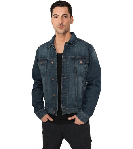 Veste denim URBAN CLASSICS Jean Bleu denim