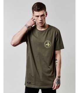 T-shirt Cayler & Sons FRDM Long Scallop Back Tee Olive