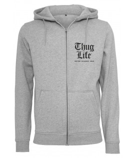 Sweat Zippé Thug Life Chest Cities Zip Hoody Gris