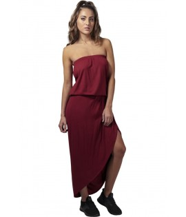 Robe Urban Classics Bordeaux Bandeau Stretch