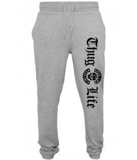 Bas de jogging Thug Life Old English Sweatpants Gris