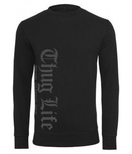 Sweat Thug Life Old English Crewneck Noir