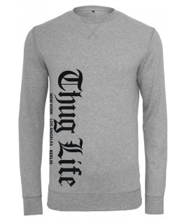 Sweat Thug Life Old English Crewneck Grey