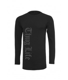 T-shirt Manche Longues Thug Life Old English Longsleeve Noir