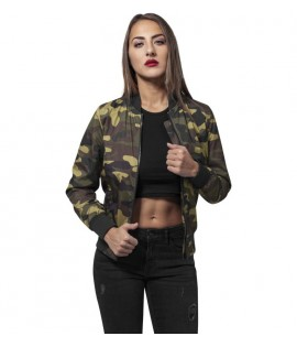 Bomber Léger Femme Urban Classics Wood Camouflage