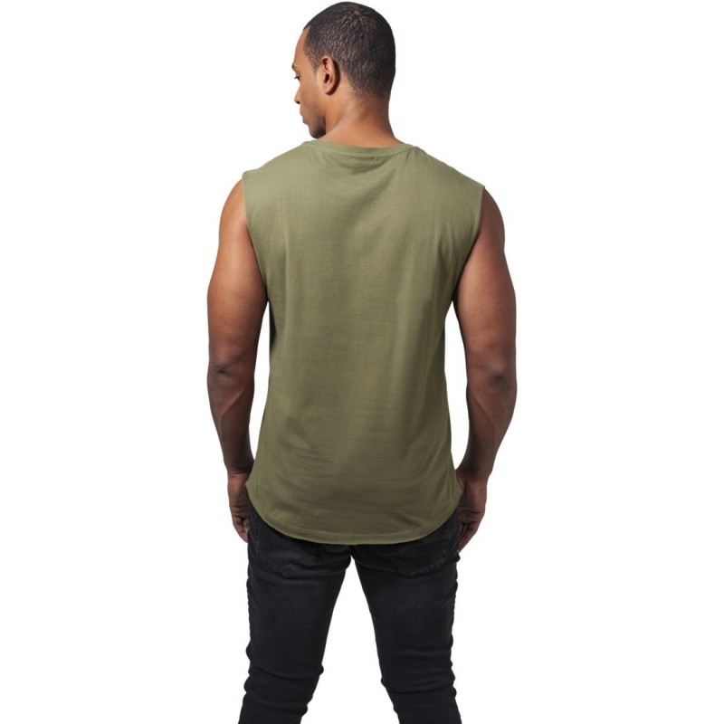 t shirt sans manche urban classics olive. Black Bedroom Furniture Sets. Home Design Ideas