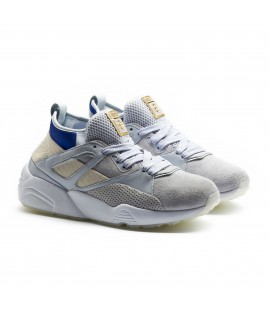 Baskets Puma x Carreaux Blaze Of Glory Sock Bleu Gris