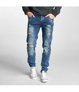 Jean Just Rhyse Destroyed Straight Fit Jeans blue