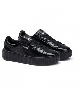 Chaussures Puma x Fenty Rihanna Creepers Wrinkled Patent Noir