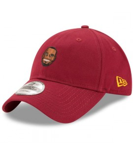 Casquette Incurvée New Era Cleveland Cavaliers NBA Primary Head Stephen Curry 9Twenty Bordeaux