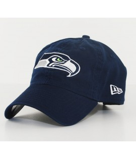 Casquette Incurvée New Era Seattle Seahawks Unstructured NFL 9Twenty Bleu Marine