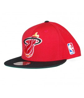 EXCLU! MITCHELL & NESS HEAT Miami Logo XL Rouge