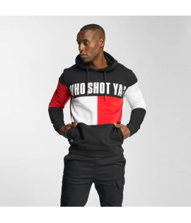 Sweat Capuche Tao Who Shot Ya? This Rouge Noir
