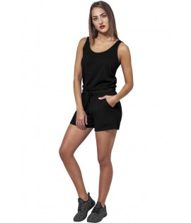 Combi-Short Urban Classics Noir Chiné Hot Jumpsuit