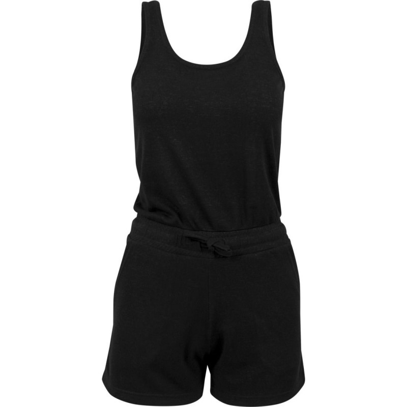 a70d3aa71525 Combi-Short Urban Classics Noir Chiné Hot Jumpsuit