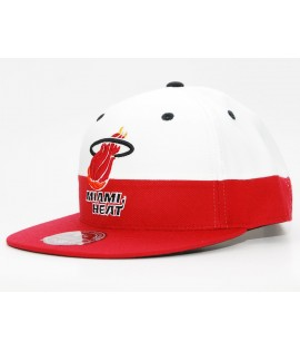 EXCLU! MITCHELL & NESS HEAT Miami Blanc / Rouge White Crown