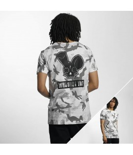 T-Shirt Who Shot Ya? Camo Blanc Noir