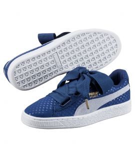 Chaussures Puma Basket Heart Denim Halogen Blue Do You