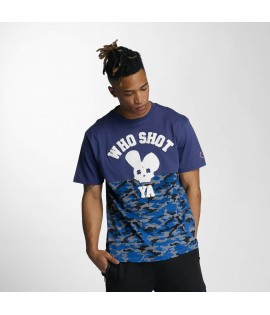 T-shirt Who Shot Ya? Bluecamou Bleu