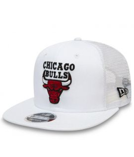Casquette Filet New Era Chicago Bulls Mesh 9Fifty Blanc