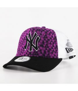 Casquette Trucker New Era New York Yankees Kaleidoscope Trucker Violet
