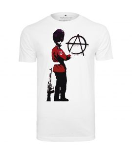 T-shirt Mister Tee Anarchie Blanc
