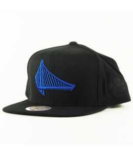 Casquette Mitchell & Ness Golden States Warriors Snapback NBA Noir