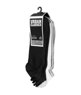 No Show Socks 5-Pack Urban Classics Noir