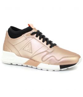 Chaussures Le Coq Sportif Omicron S Lea Metallic Rose