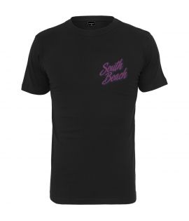 T-shirt Mister tee South Beach Noir