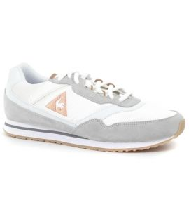 Chaussures Le Coq Sportif Louise Suede Nylon Blanc
