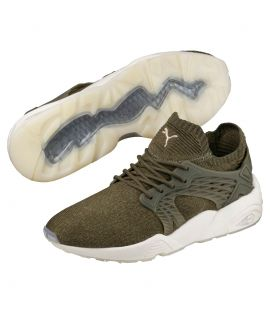 Baskets Puma Blaze Cage Evoknit Olive Night