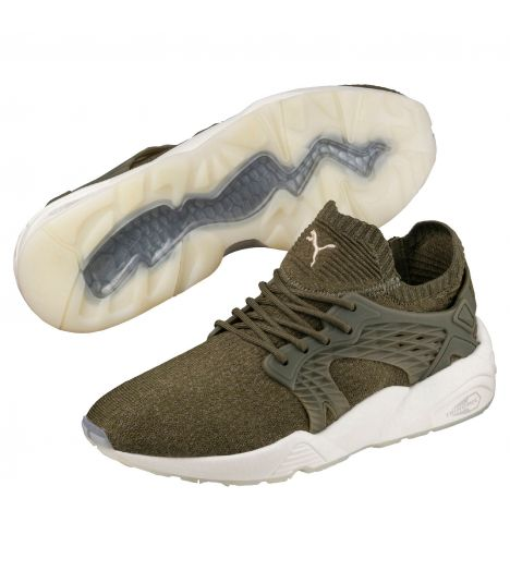 Marques Chaussure homme Puma homme Blaze Cage Evoknit Olive