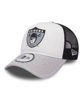 Casquette Trucker New Era Oakland Raiders NFL Throwbackl Blanc Noir