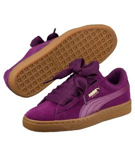 Chaussures Puma Suede Heart SNK Violet