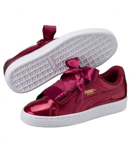 Chaussures Puma Basket Patent Heart Glam Tibetan Rouge Do You