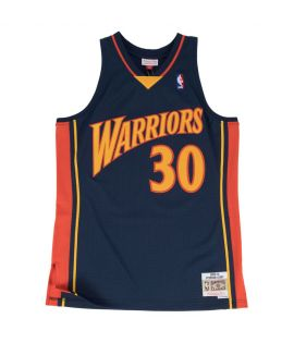 Maillot Basketball Mitchell & Ness Golden States Warriors HWC Swingman Stephen Curry Bleu Marine