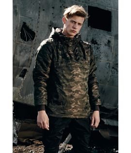Coupe-Vent Camouflage Doublé Urban Classics Dark Olive