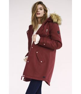 Parka Femme Vero Moda Track Expedition 3/4 Bordeaux