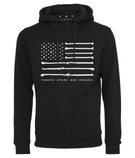 Sweat Capuche Bone Flag Hoody Famous Noir