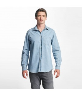 Just Rhyse Denim Shirt Light Blue Denim