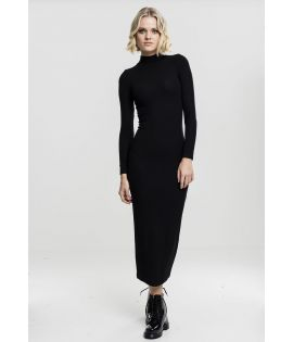 Robe Longue Urban Classics Noir Stretch Col Tortue