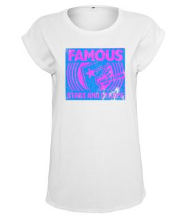 T-shirt Femme Famous Stars and Straps Ladies Loud and Clear Tee Blanc