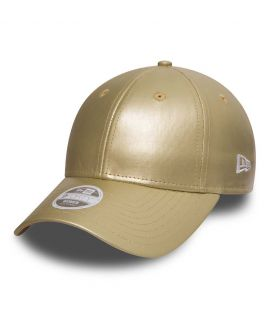 Casquette Incurvée Femme New Era Metallic PU Or