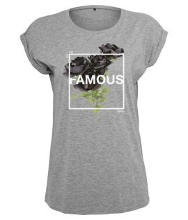 T-shirt Femme Famous Stars and Straps Ladies Life and Death Tee Gris