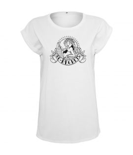 T-shirt Mister Tee Ladies No Regrets Femme Blanc