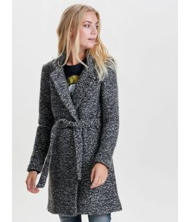 Manteau Only Noma Wool Trenchcoat Gris Foncé Chiné