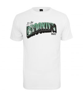 T-shirt Mister tee Brooklyn Way Blanc