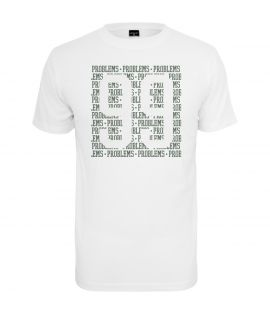 T-shirt Mister Tee 99 Problems Lines Blanc