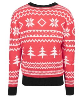 Pull Noël Urban Classics Holiday Christmas Crewneck Rouge